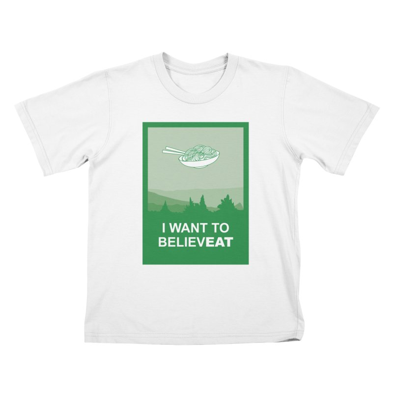 I want to believeat - pasta Kids Toddler T-Shirt by mhacksi's Artist Shop