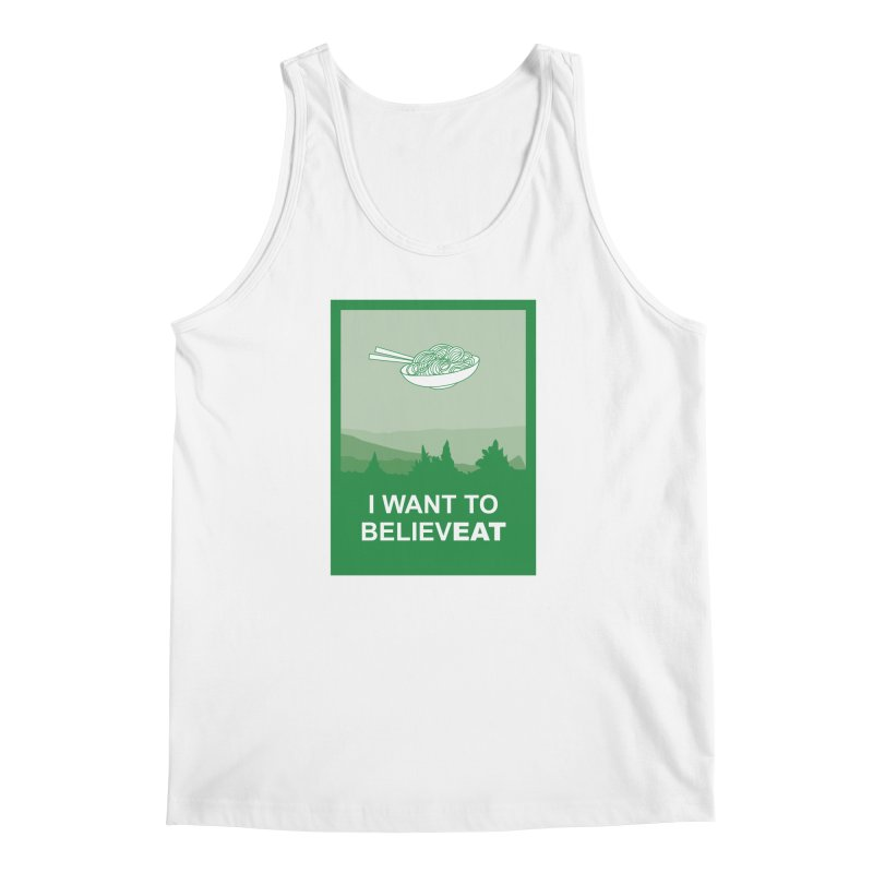 I want to believeat - pasta Men's Regular Tank by mhacksi's Artist Shop