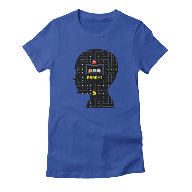 80'S child - Pacman Boy Women's Fitted T-Shirt by mhacksi's Artist Shop