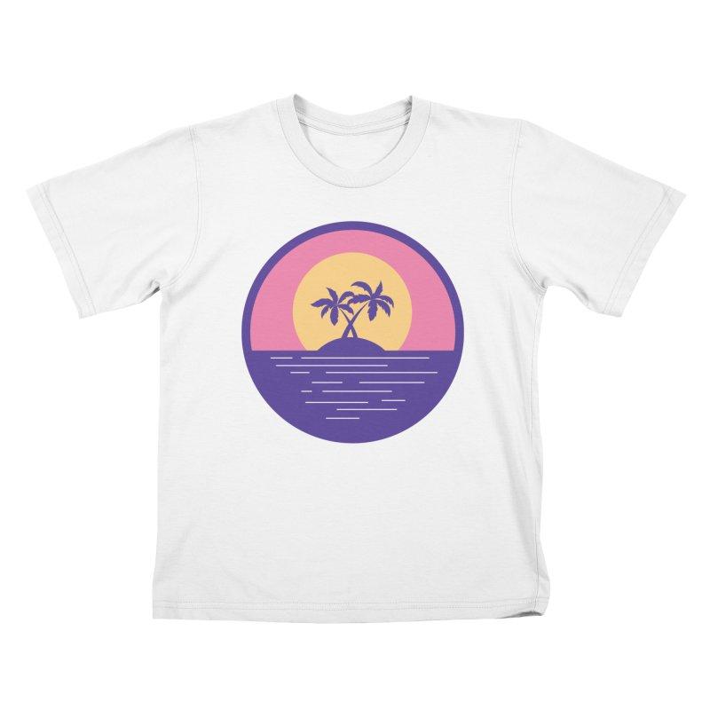 Circular Landscape - Palms Kids Toddler T-Shirt by mhacksi's Artist Shop