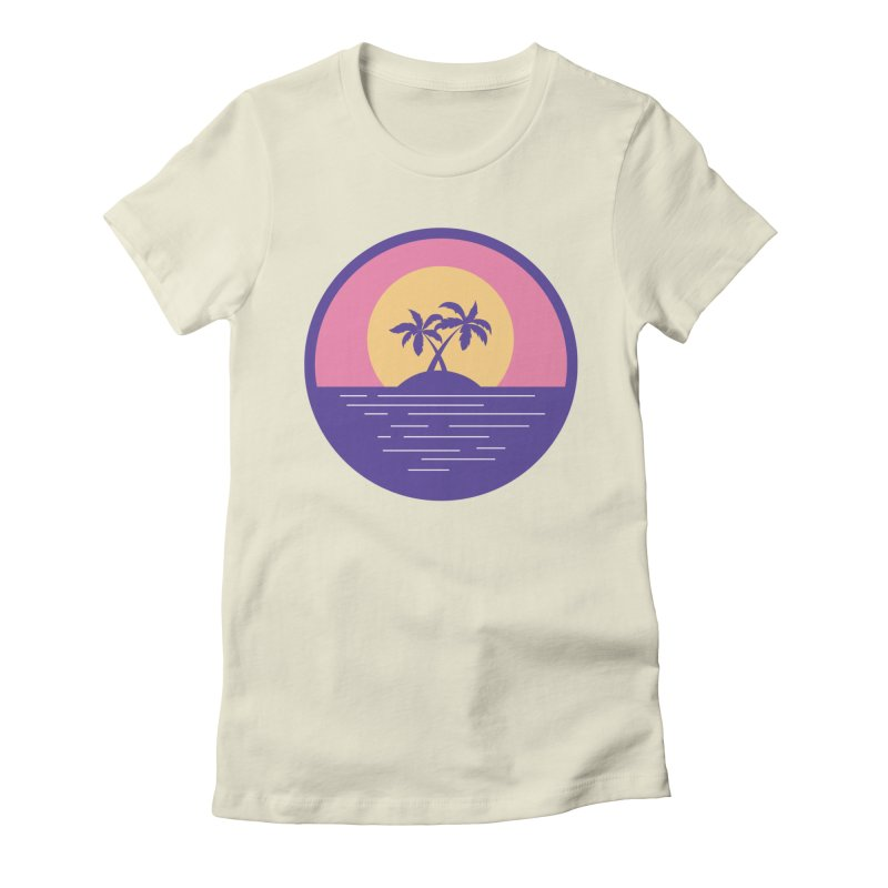 Circular Landscape - Palms Women's Fitted T-Shirt by mhacksi's Artist Shop
