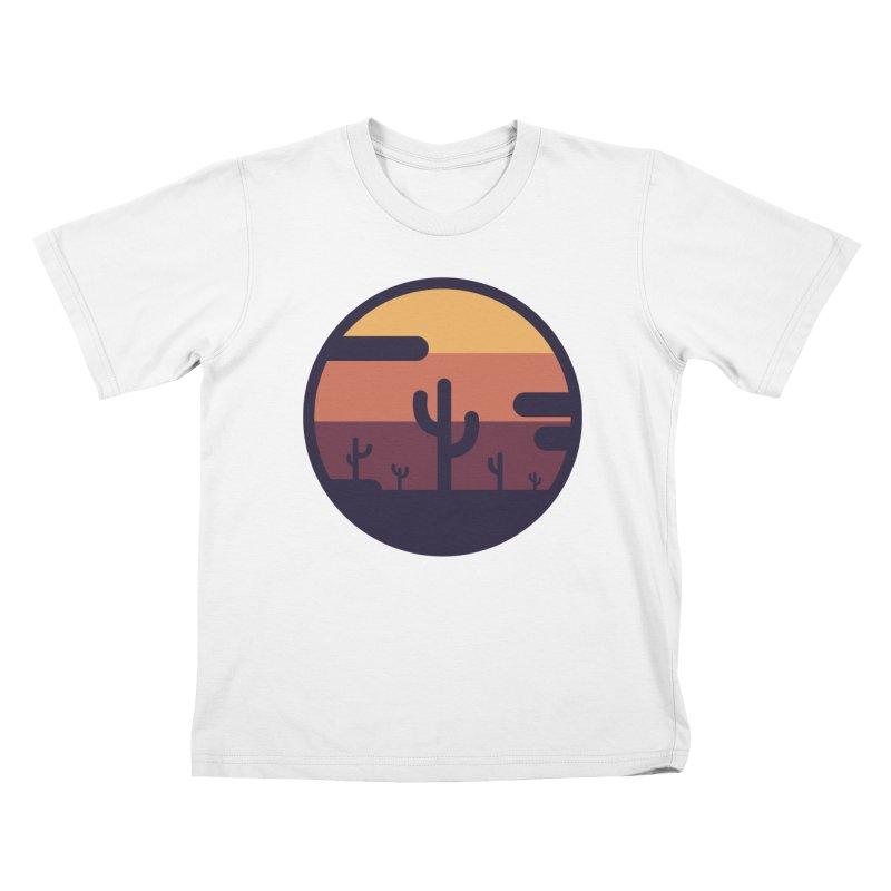Circular Landscape - Cactus Kids Toddler T-Shirt by mhacksi's Artist Shop