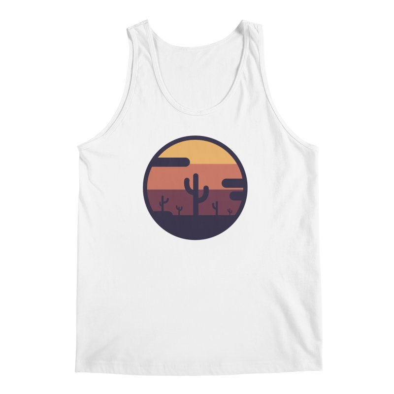 Circular Landscape - Cactus Men's Regular Tank by mhacksi's Artist Shop
