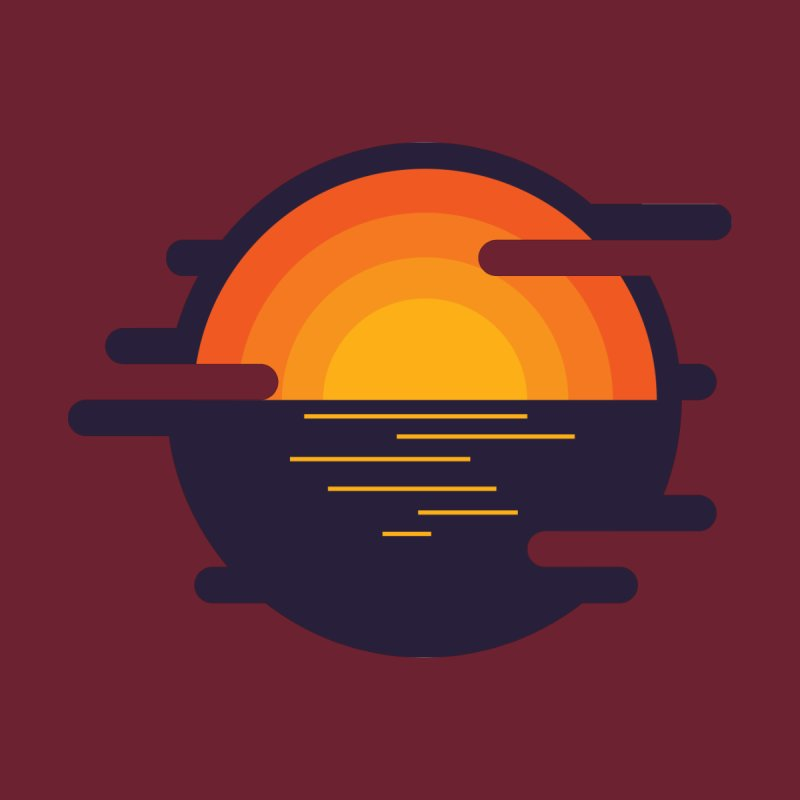 Circular Landscape - Sunset by mhacksi's Artist Shop