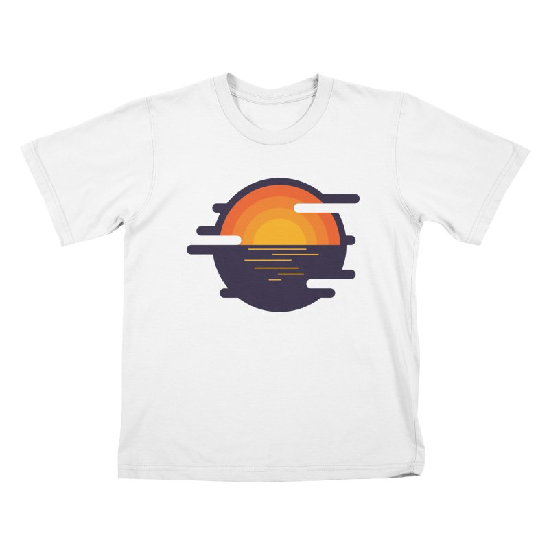 Circular Landscape - Sunset Kids Toddler T-Shirt by mhacksi's Artist Shop