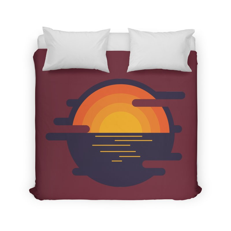 Circular Landscape - Sunset Home Duvet by mhacksi's Artist Shop