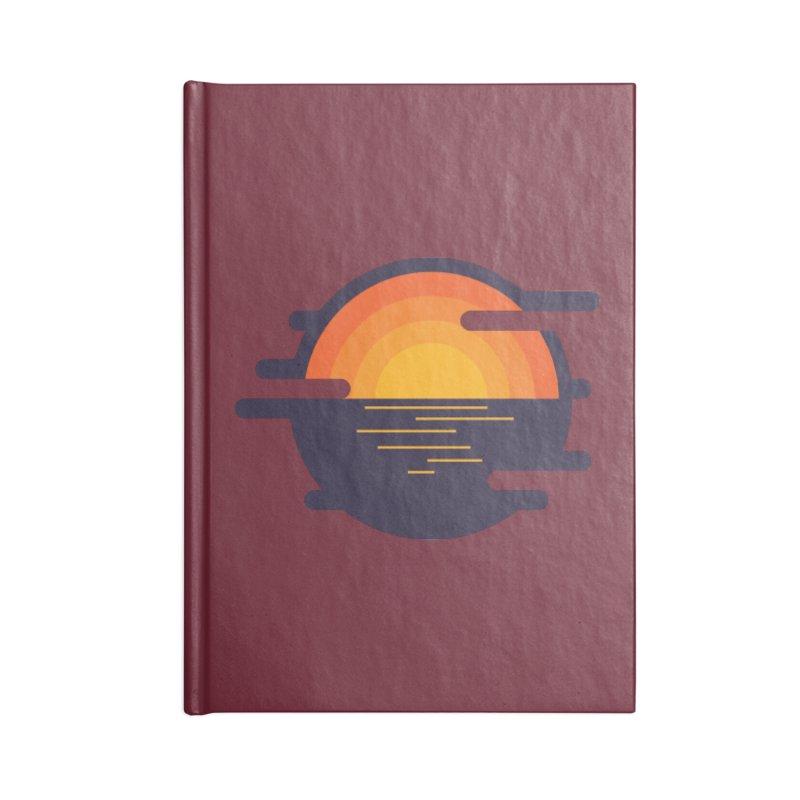 Circular Landscape - Sunset Accessories Lined Journal Notebook by mhacksi's Artist Shop