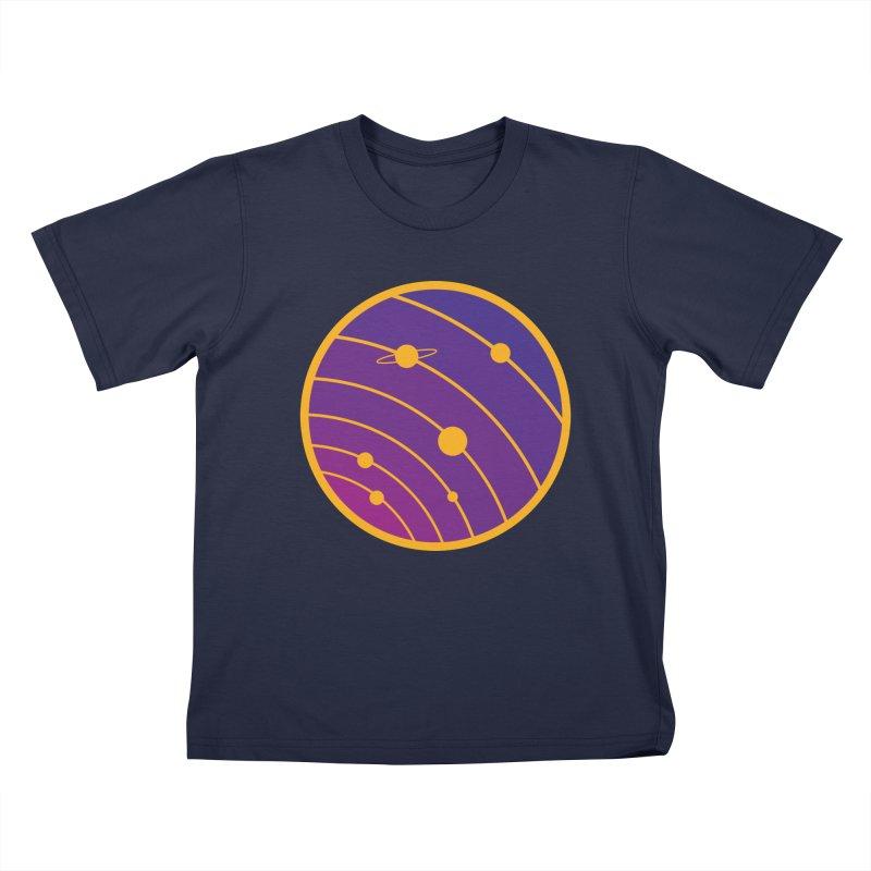 Circular landscape - Space Kids Toddler T-Shirt by mhacksi's Artist Shop