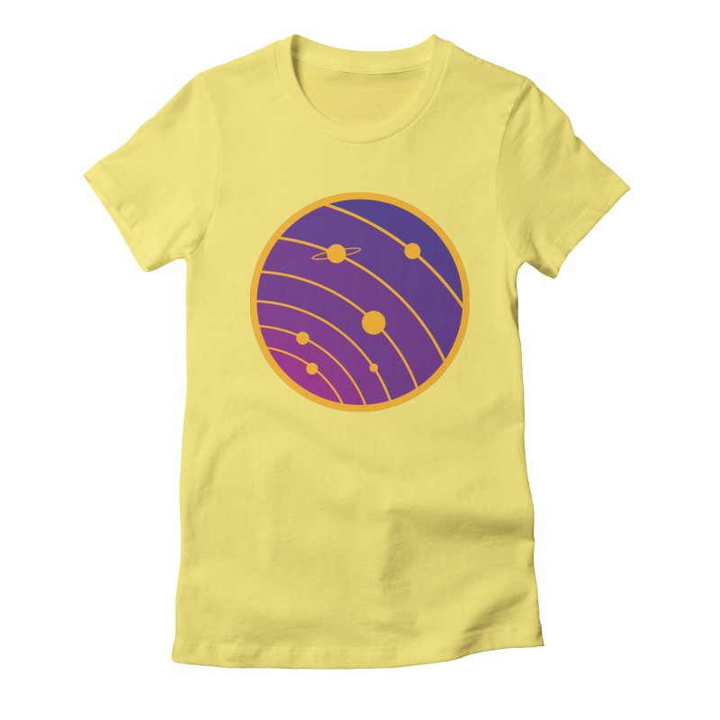 Circular landscape - Space Women's Fitted T-Shirt by mhacksi's Artist Shop