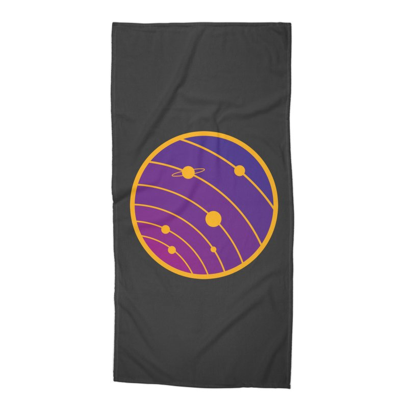 Circular landscape - Space Accessories Beach Towel by mhacksi's Artist Shop