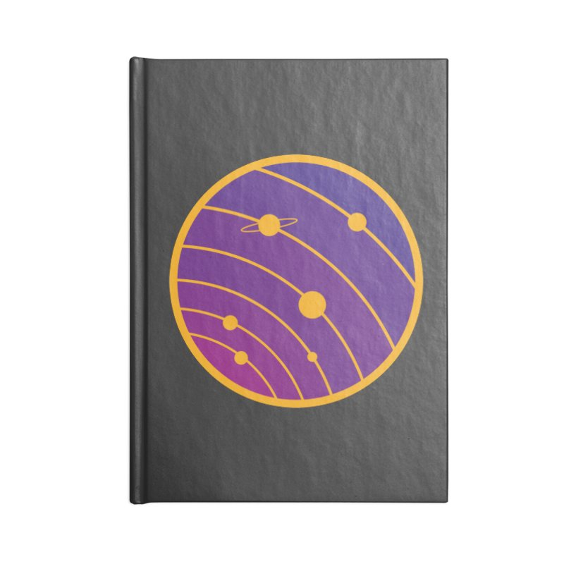 Circular landscape - Space Accessories Lined Journal Notebook by mhacksi's Artist Shop