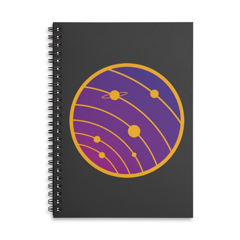 Circular landscape - Space Accessories Lined Spiral Notebook by mhacksi's Artist Shop