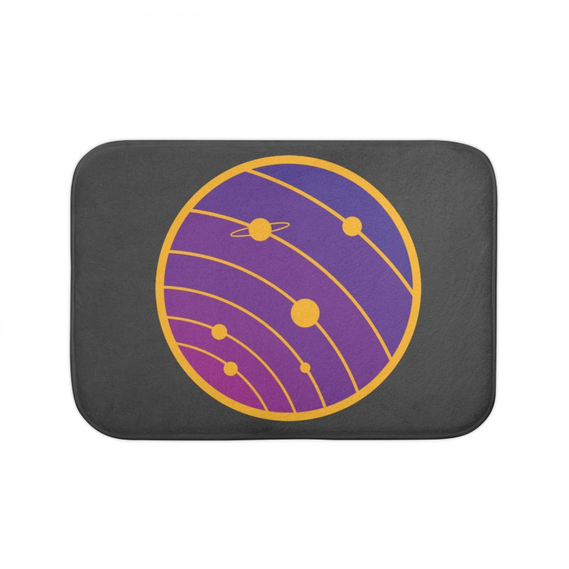 Circular landscape - Space Home Bath Mat by mhacksi's Artist Shop