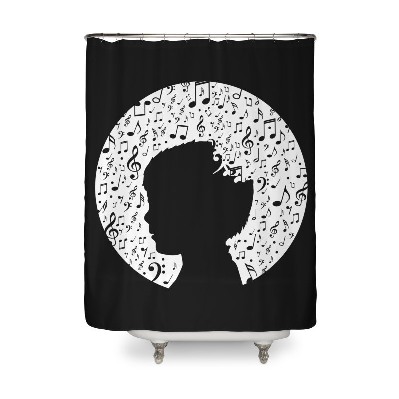Science of Music Home Shower Curtain by mhacksi's Artist Shop
