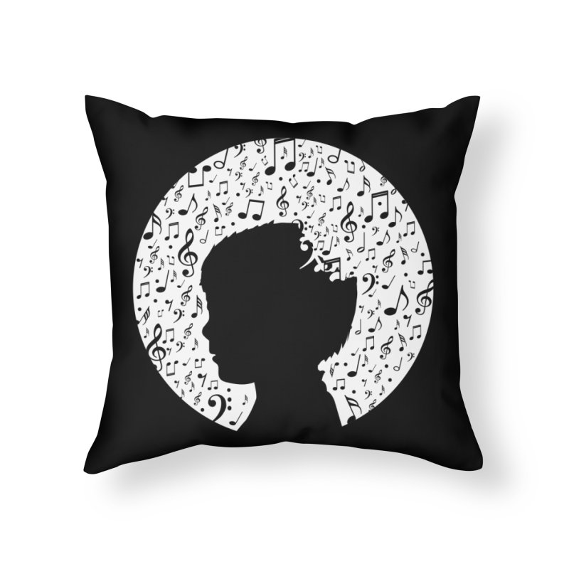 Science of Music Home Throw Pillow by mhacksi's Artist Shop
