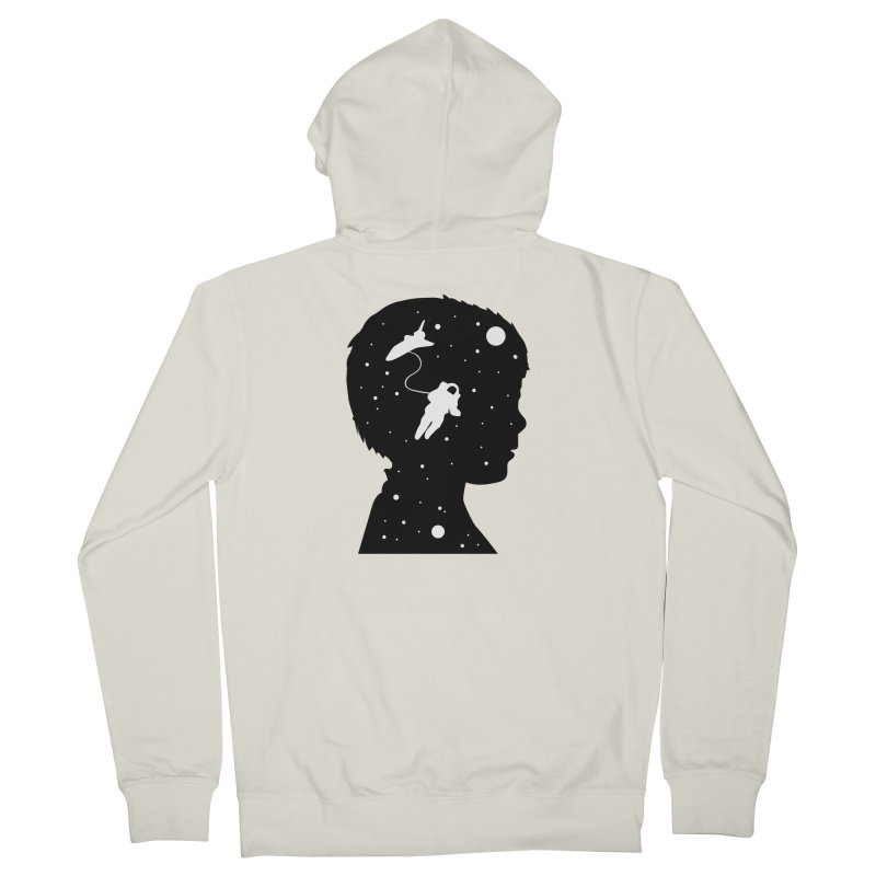 Space dreams Men's French Terry Zip-Up Hoody by mhacksi's Artist Shop