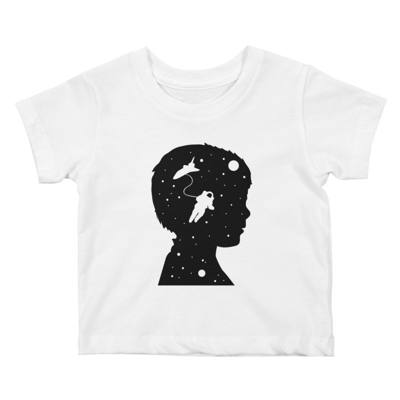 Space dreams Kids Baby T-Shirt by mhacksi's Artist Shop