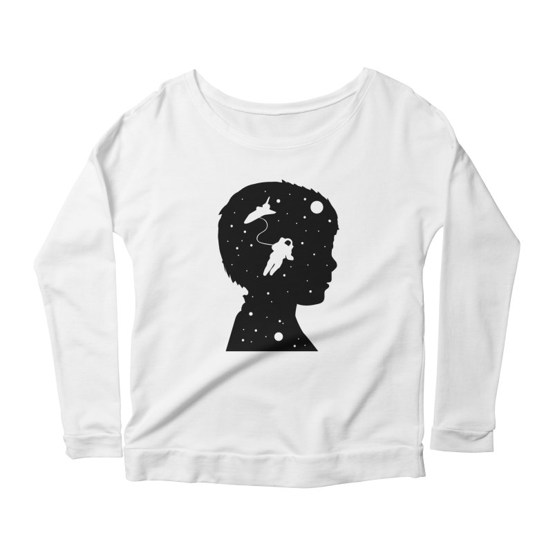 Space dreams Women's Longsleeve Scoopneck  by mhacksi's Artist Shop