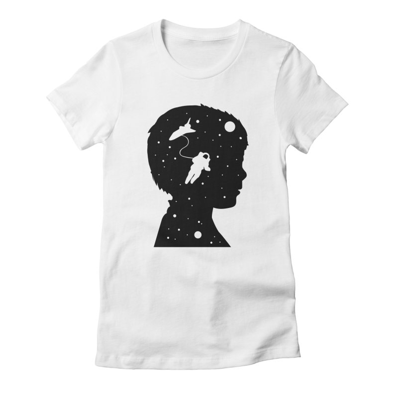 Space dreams Women's Fitted T-Shirt by mhacksi's Artist Shop