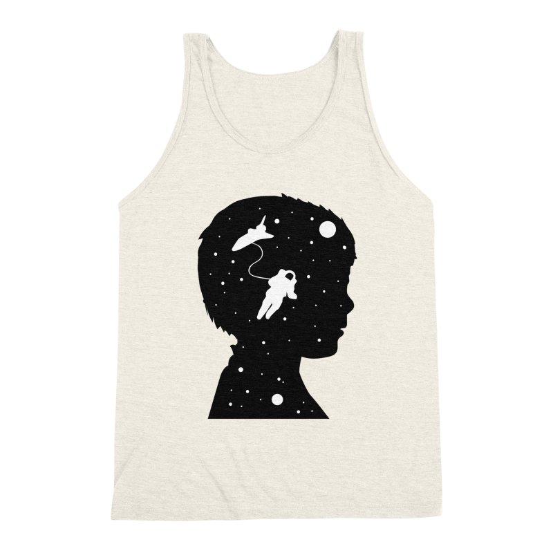 Space dreams Men's Triblend Tank by mhacksi's Artist Shop