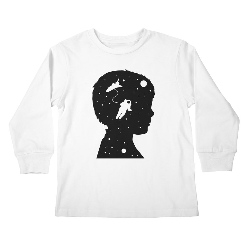Space dreams Kids Longsleeve T-Shirt by mhacksi's Artist Shop