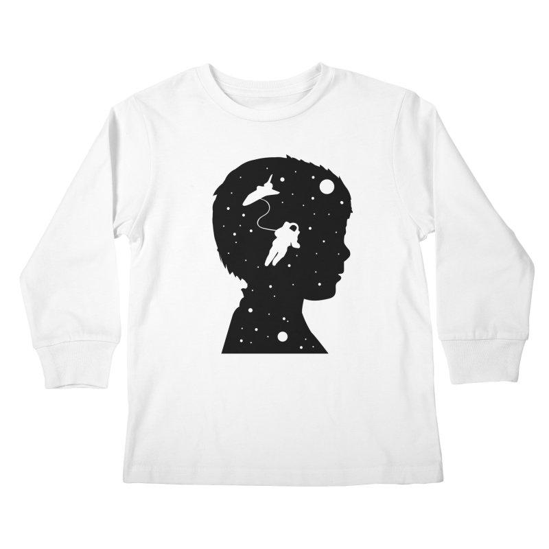 Space dreams Kids Longsleeve T-Shirt by mhacksi's Artist Shop