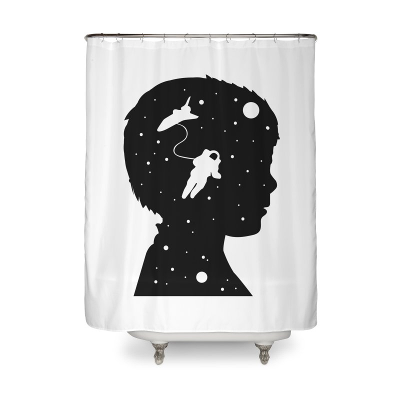 Space dreams Home Shower Curtain by mhacksi's Artist Shop