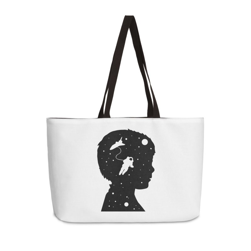 Space dreams Accessories Weekender Bag Bag by mhacksi's Artist Shop