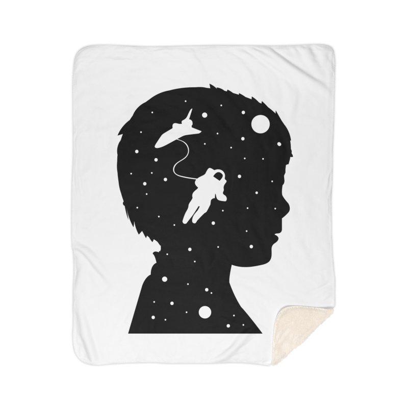 Space dreams Home Sherpa Blanket Blanket by mhacksi's Artist Shop