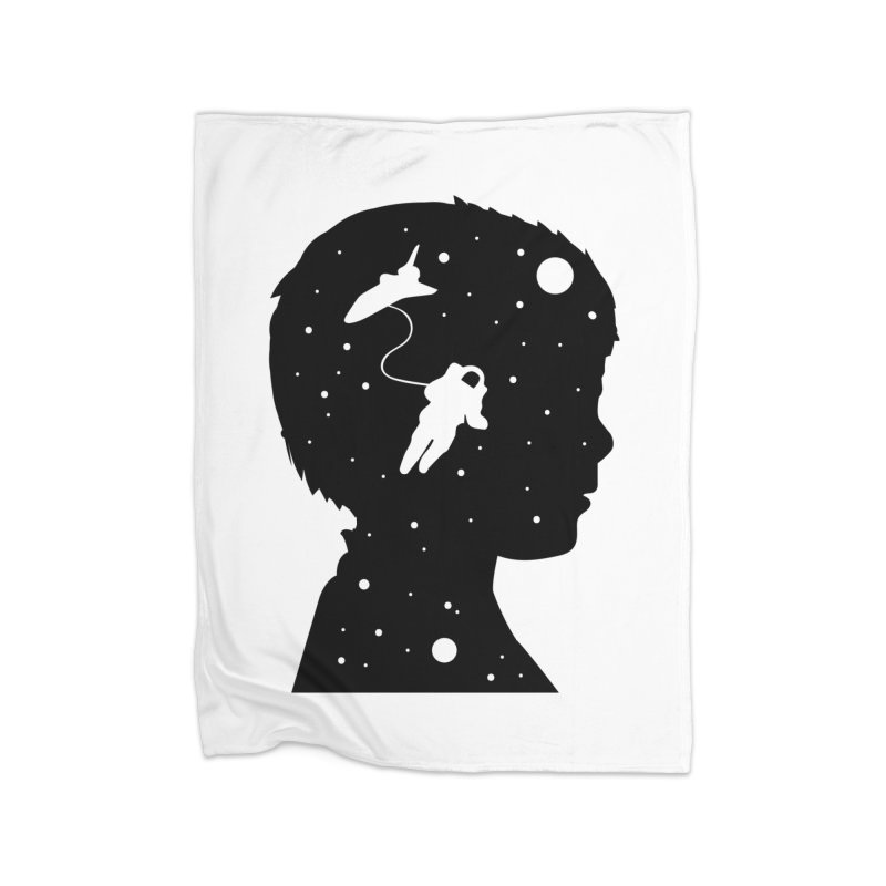 Space dreams Home Fleece Blanket Blanket by mhacksi's Artist Shop