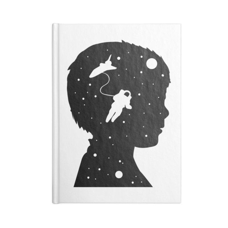 Space dreams Accessories Lined Journal Notebook by mhacksi's Artist Shop