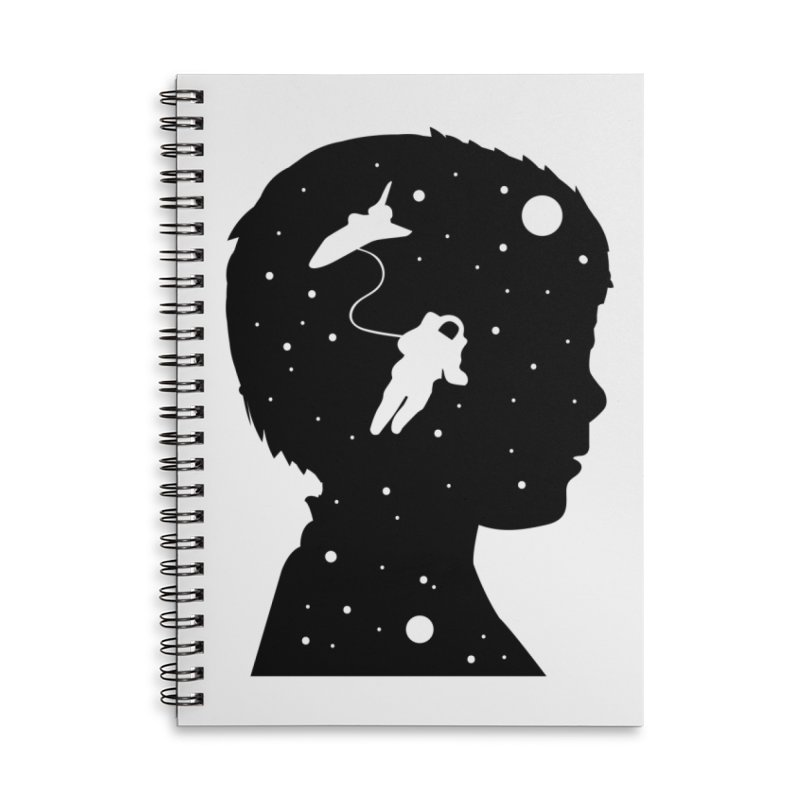 Space dreams Accessories Lined Spiral Notebook by mhacksi's Artist Shop