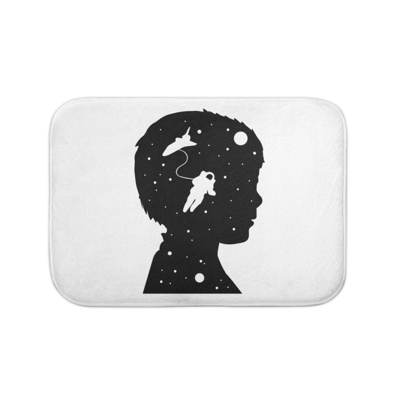 Space dreams Home Bath Mat by mhacksi's Artist Shop