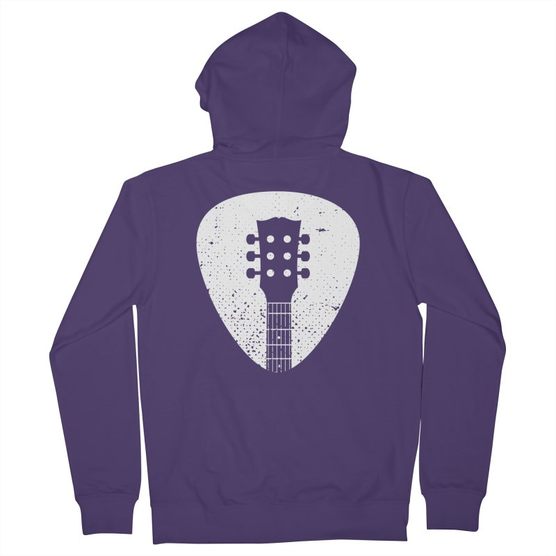 Rock Pick Women's French Terry Zip-Up Hoody by mhacksi's Artist Shop