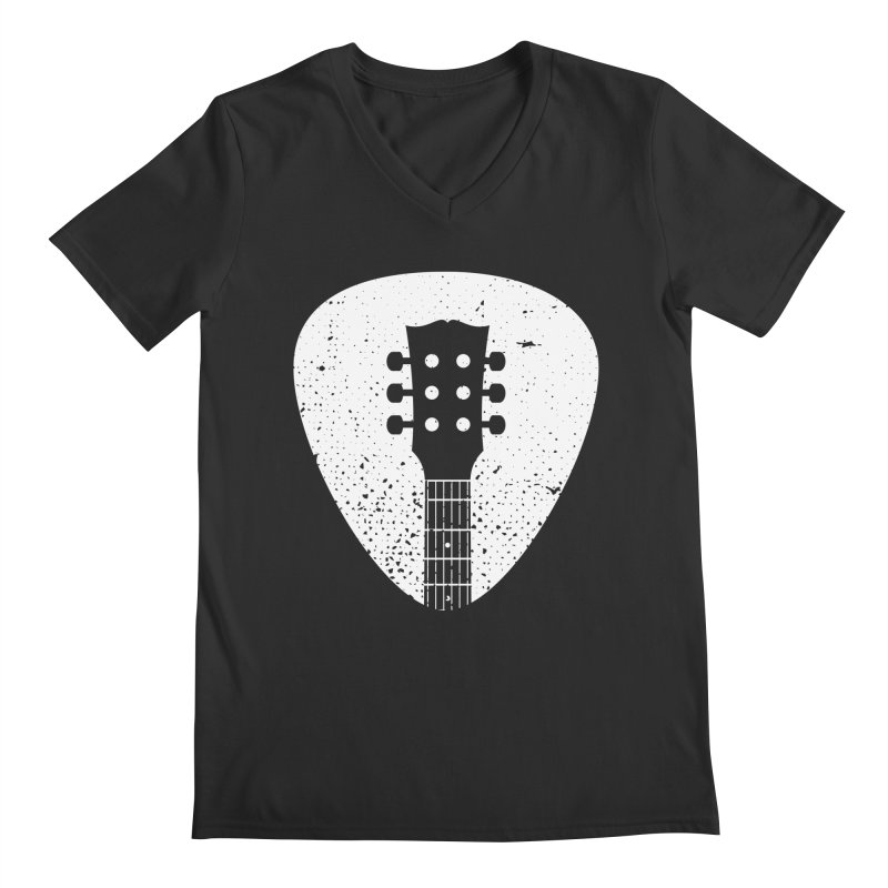 Rock Pick Men's V-Neck by mhacksi's Artist Shop