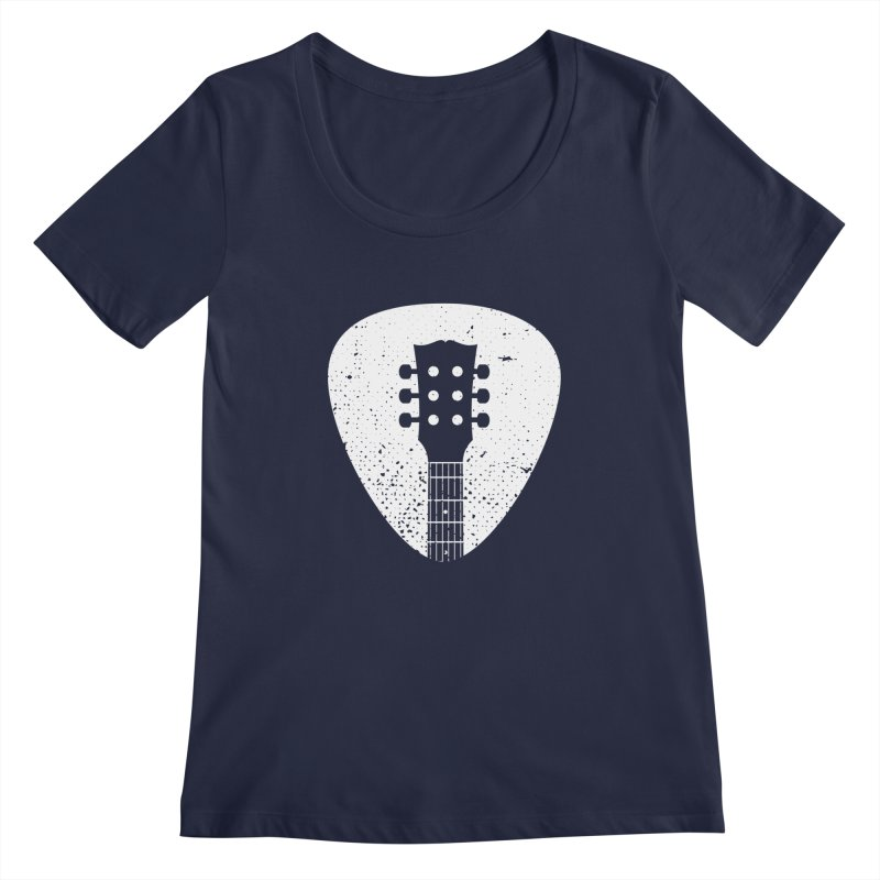 Rock Pick Women's Scoopneck by mhacksi's Artist Shop