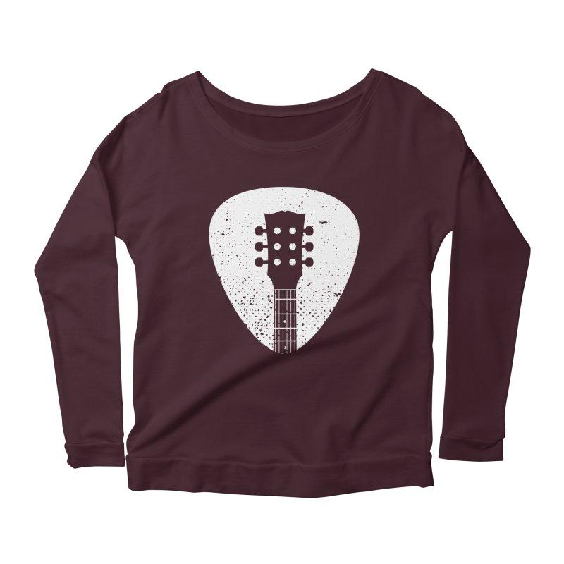 Rock Pick Women's Scoop Neck Longsleeve T-Shirt by mhacksi's Artist Shop