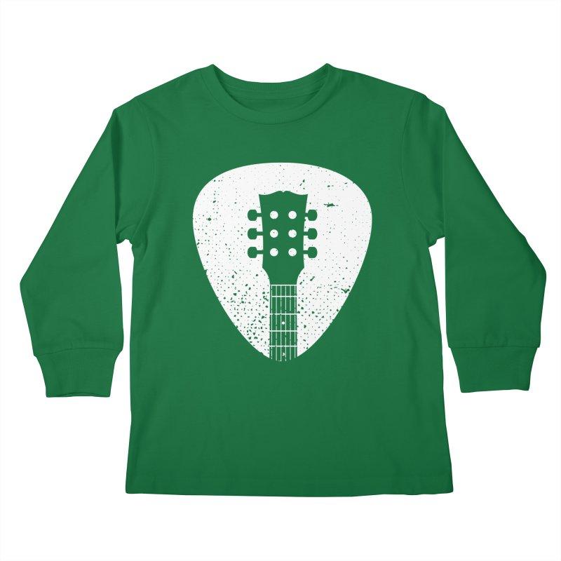 Rock Pick Kids Longsleeve T-Shirt by mhacksi's Artist Shop
