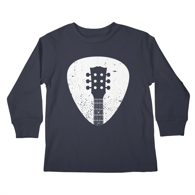Rock Pick Kids Longsleeve T-Shirt by mhacksi's Artist Shop
