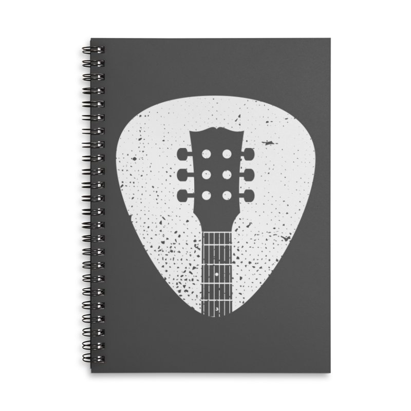 Rock Pick Accessories Lined Spiral Notebook by mhacksi's Artist Shop