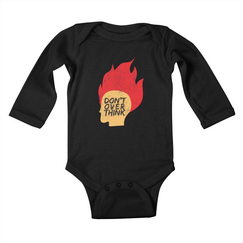 Don't Overthink Kids Baby Longsleeve Bodysuit by mhacksi's Artist Shop