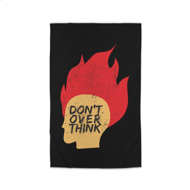 Don't Overthink Home Rug by mhacksi's Artist Shop