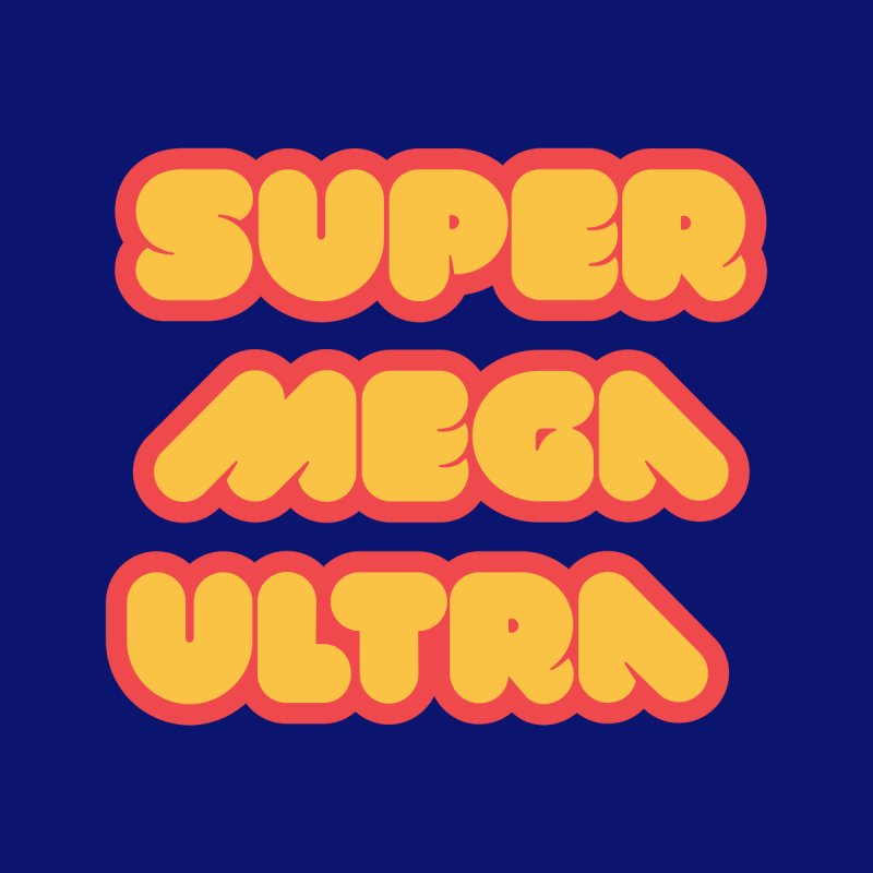 Super Mega Ultra Men's Tank by mhacksi's Artist Shop