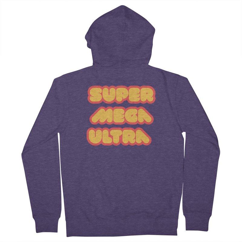 Super Mega Ultra Men's Zip-Up Hoody by mhacksi's Artist Shop