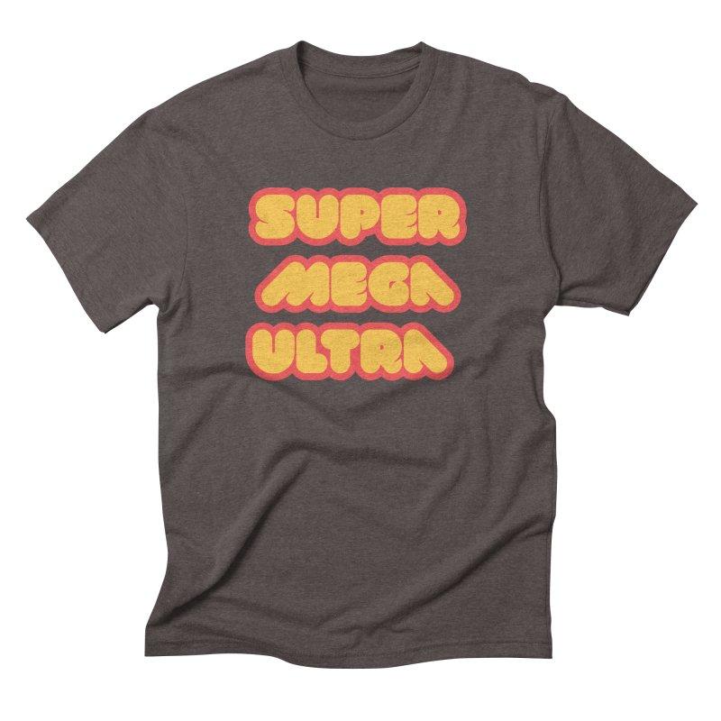 Super Mega Ultra Men's Triblend T-Shirt by mhacksi's Artist Shop
