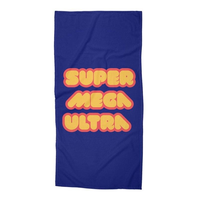 Super Mega Ultra Accessories Beach Towel by mhacksi's Artist Shop
