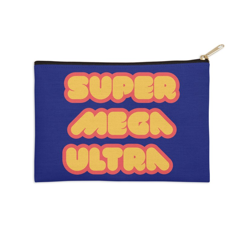 Super Mega Ultra Accessories Zip Pouch by mhacksi's Artist Shop