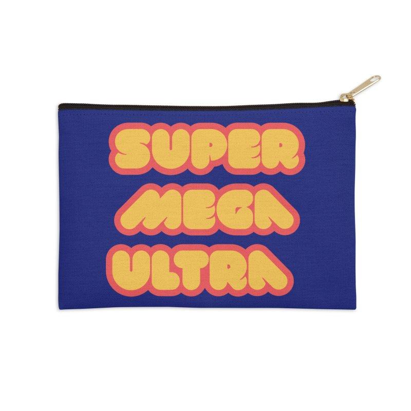 Super Mega Ultra Accessories Zip Pouch by mhacksi's Artist Shop