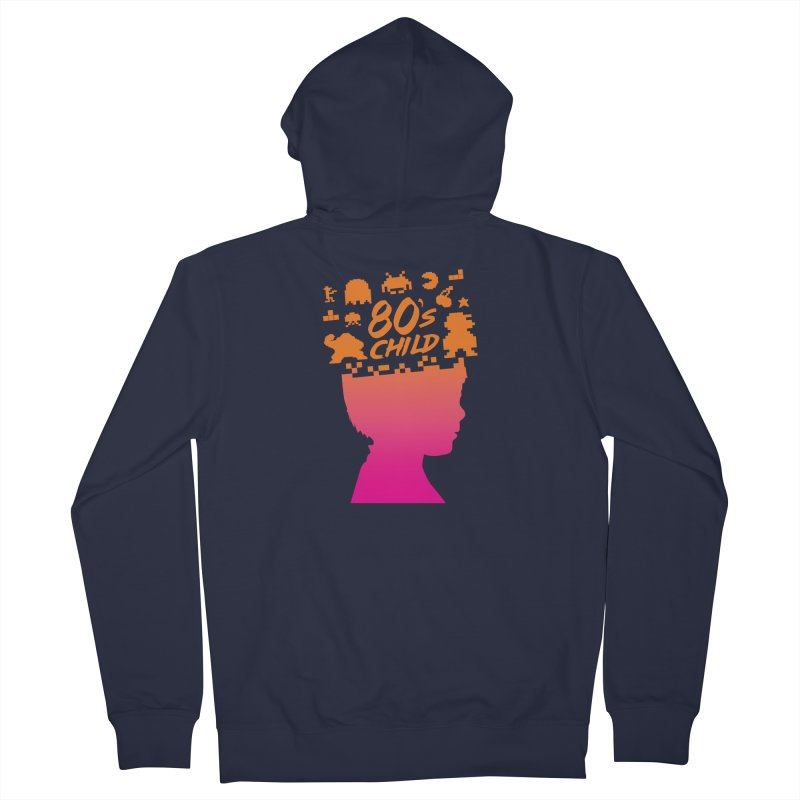 80s child Women's Zip-Up Hoody by mhacksi's Artist Shop