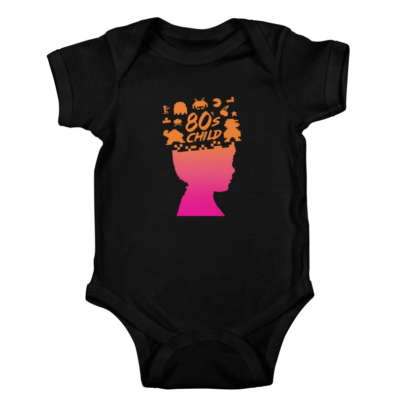 80s child Kids Baby Bodysuit by mhacksi's Artist Shop